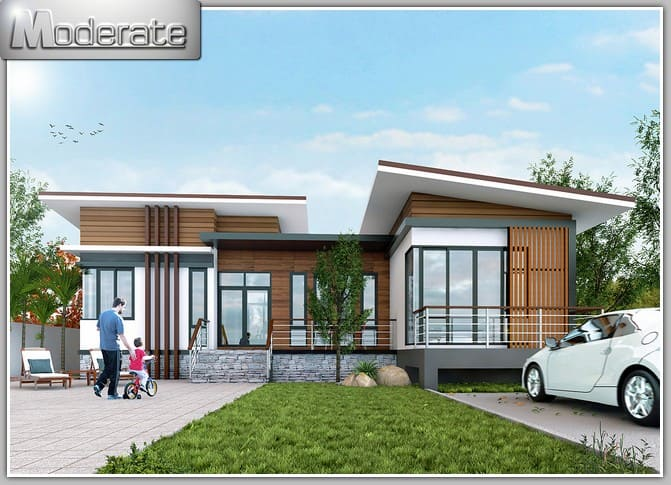 5 000 for Thai modern house style